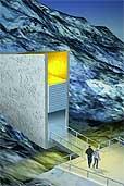 The Svalbard Global Seed Vault (Zeichnung: Global Crop Diversity Trust)