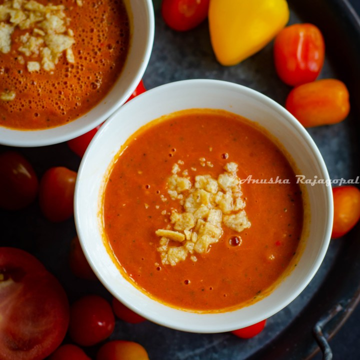 Raw Vegan Gazpacho - Vegan Tomato Gazpacho