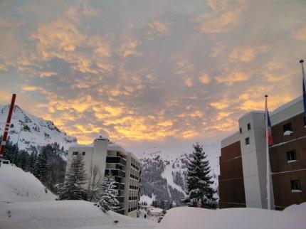 Sunrise in Flaine