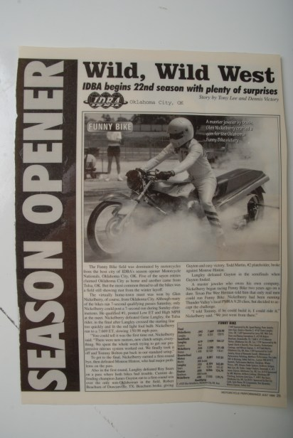 Motorcycle Performance July 1998