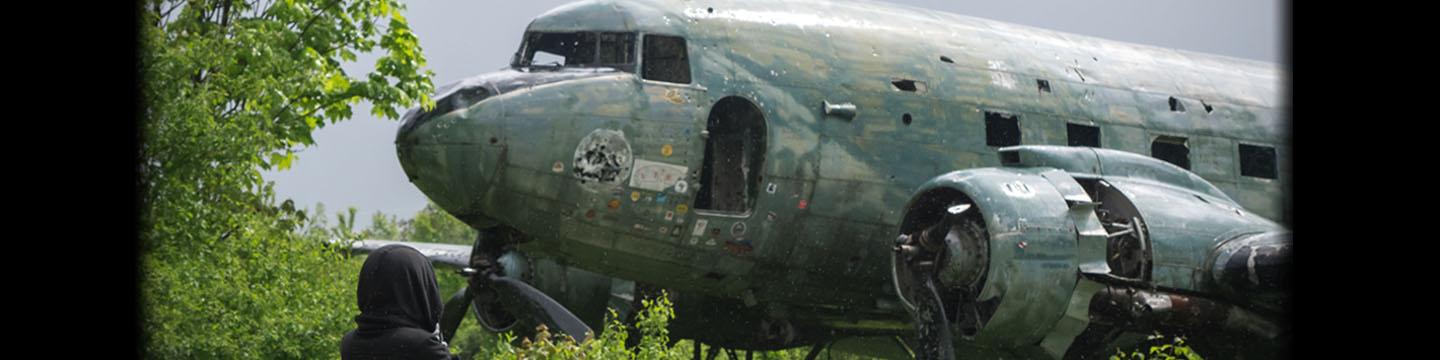 DC-3 in Željava Air Base