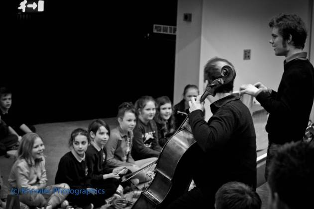 Education work in Bangor with Orchestra of the Swan, March 2014