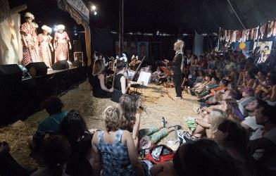 Conducting Opera Viscera at Secret Garden Party Festival, July 2011