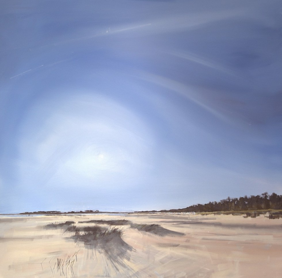 Wells beach early morning September, painted after PaintOutWells