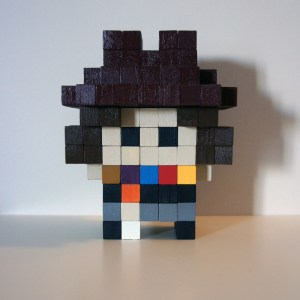 Fourth Doctor Block Figure by Tom Deacon
