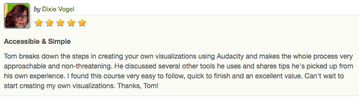 Creating Visualisations Testimonial