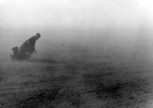 Dust Storm At Lethbridge Research Station