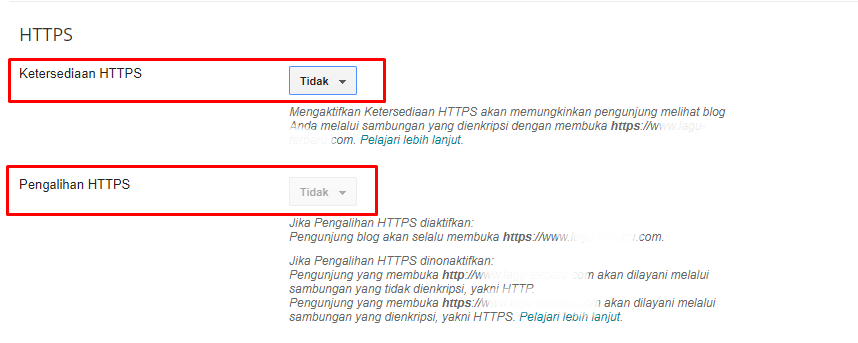 Cara Setting HTTPS pada Custom Domain Blogspot