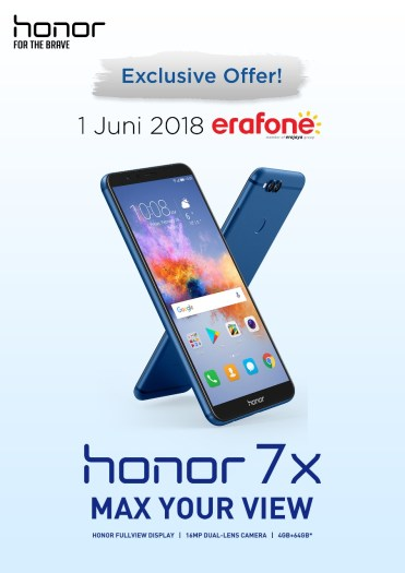 Honor 7X di Erafone