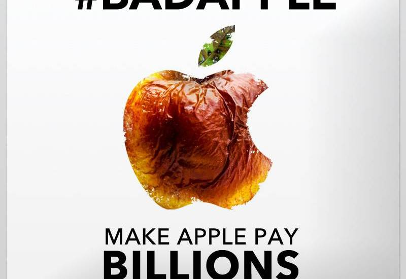 bad apple Make apple pay taxes