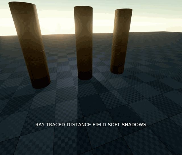 Unreal engine 4 ray traced distance field soft shadows