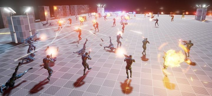 AI combat stresstest in ue4