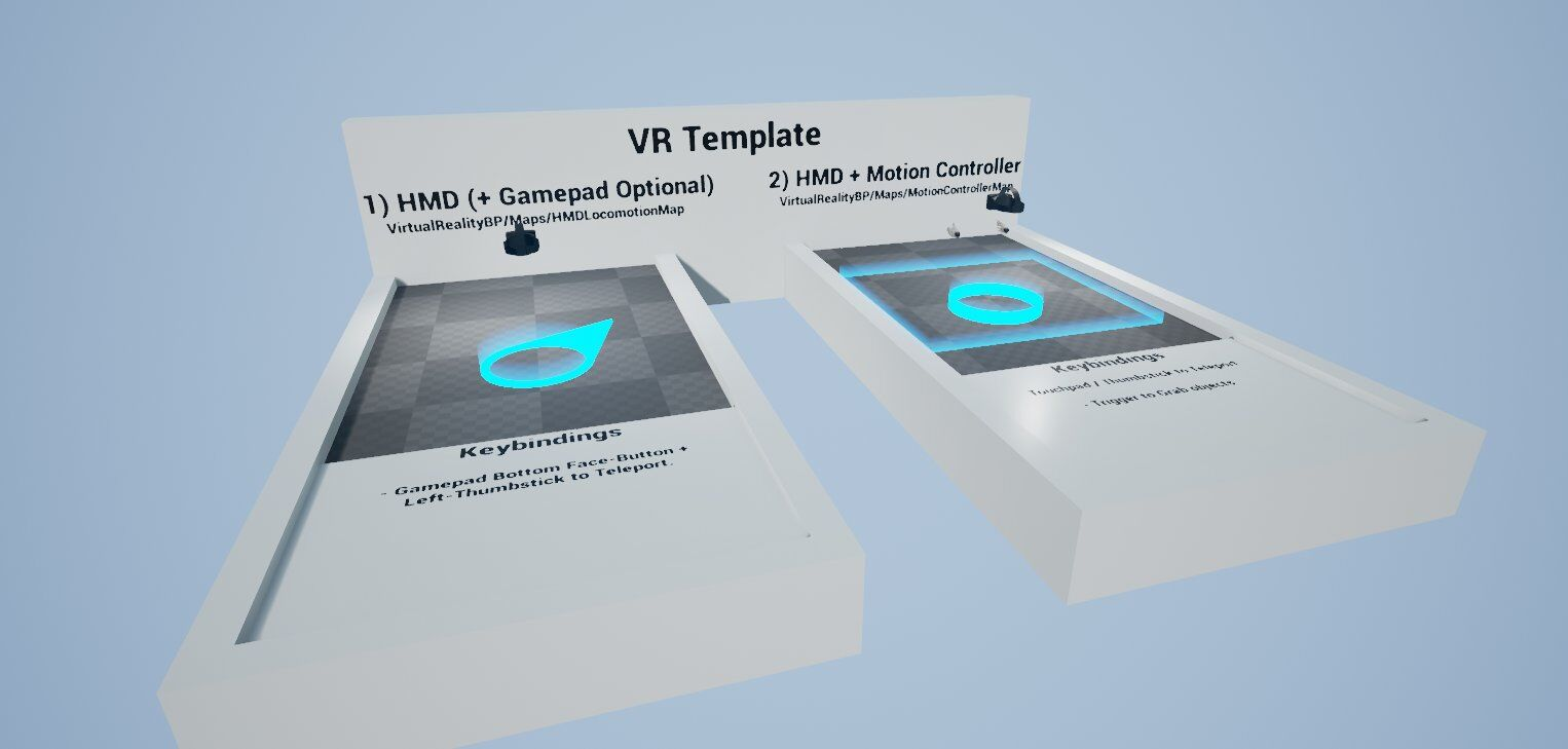 Vr template guide for unreal engine 4 tom looman hmd gamepad teleportation malvernweather Gallery