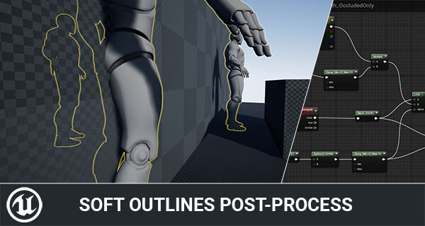 Rendering Soft outlines in Unreal Engine 4