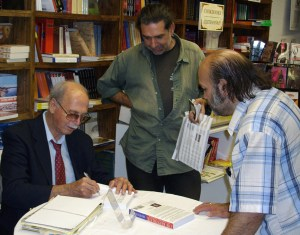 Tom Mooradian at a book signing in Los Angeles