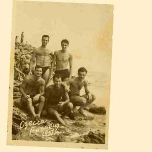Armenian Repatriates on the beach in Odessa