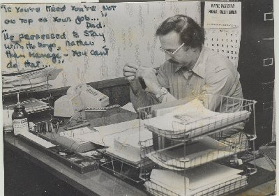 Tom Mooradian at the editorial desk circa 1970