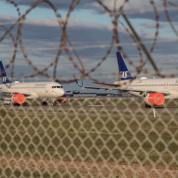 Københavns lufthavnen under Coronavirussen øv øv d. 1 april 2020. 2