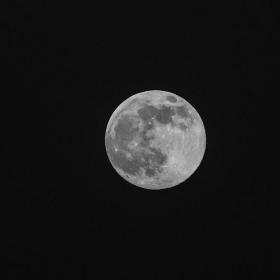 Månen over Rørvig d. 27 april. 2021. 2