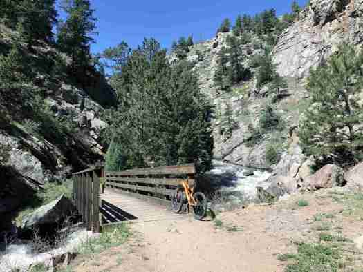 eastern bridge over South Boulder Creek