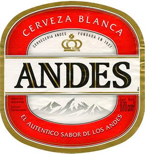 Etiqueta Cerveza Andes