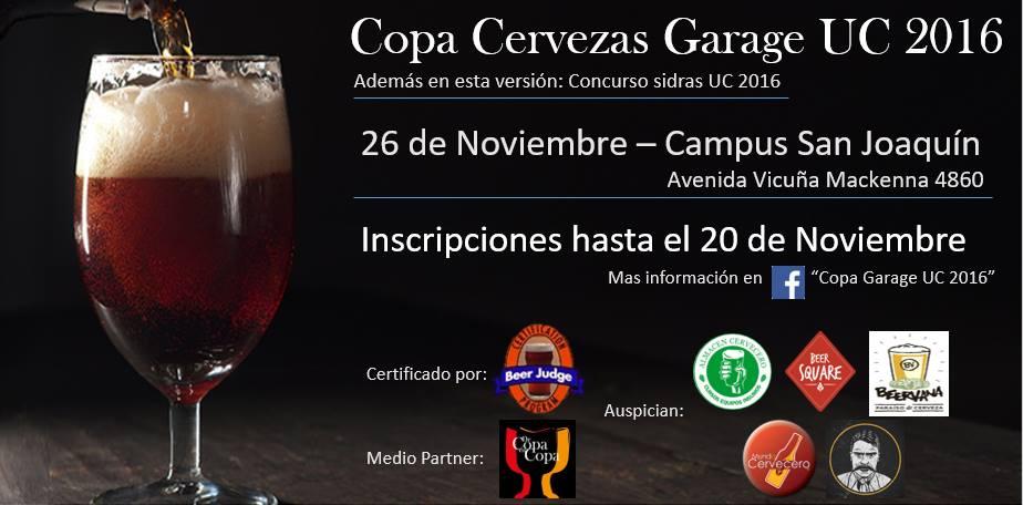 Copa Cervezas Garage UC 2016
