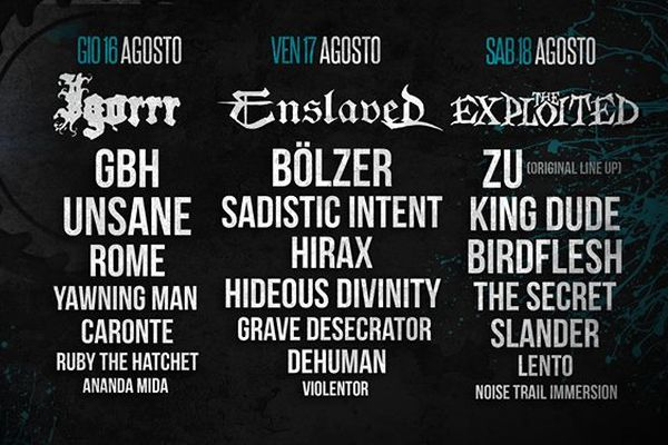 Frantic Fest 2018, la line up completa