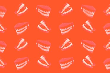 abstract wind-up teeth grinding image