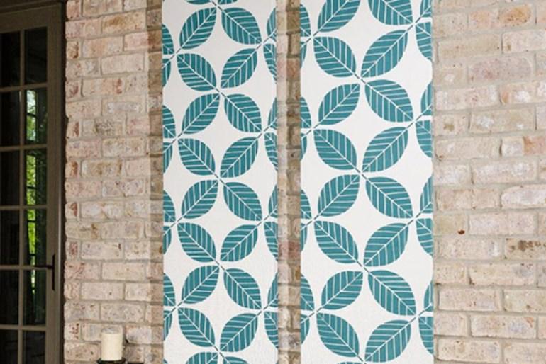 DIY Room Decor Tip #6 - Fabric Wall Art