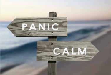 separating the way from panic and calm and managing anxiety