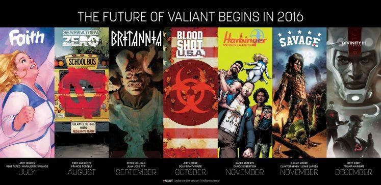 seis nuevos títulos de Valiant