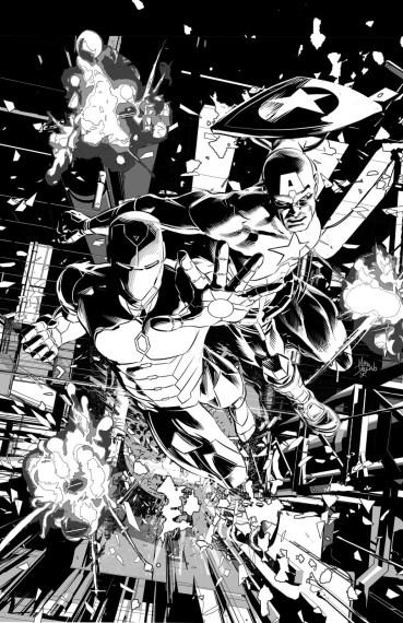 Invible Iron Man #12 b/n