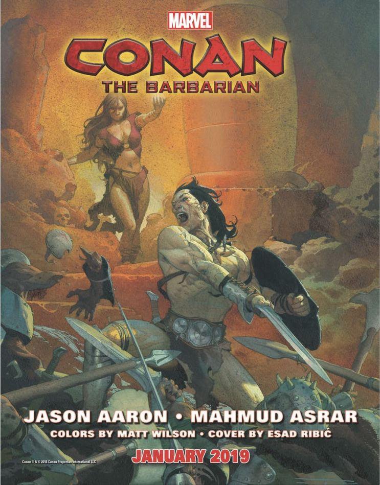 Portada para Conan #1 de Esad Ribic