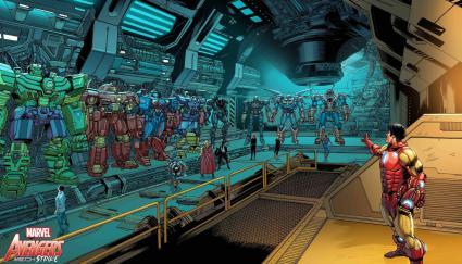 Avengers Mech Strike Vengadores Mecas dibujos interiores 2