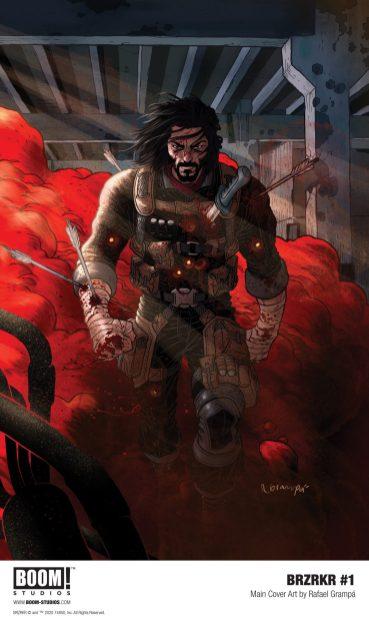 Portada Brzrkr el cómic de Keanu Reeves