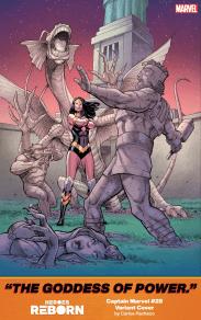Portada Heroes Reborn de Carlos Pacheco captain marvel variant cover