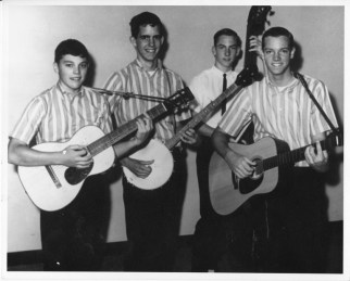 The Kingston Trio's early hero influence... Tim, Tom, and Ron, with Keith Carter on bass