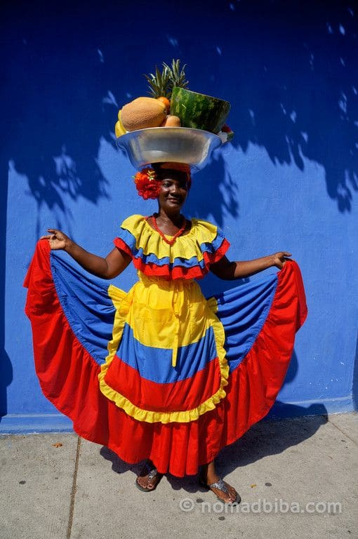 Palenquera in the Old City Centre