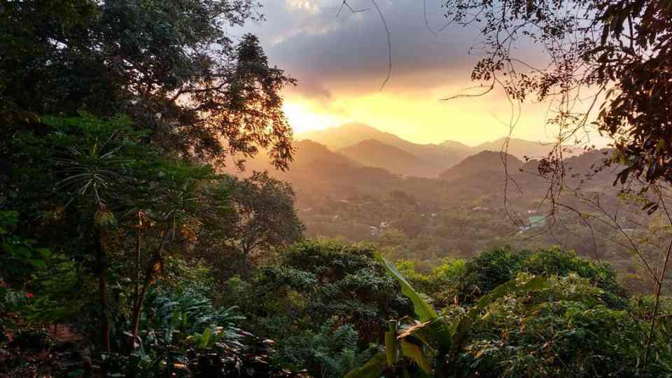 Sunset in Minca Colombia