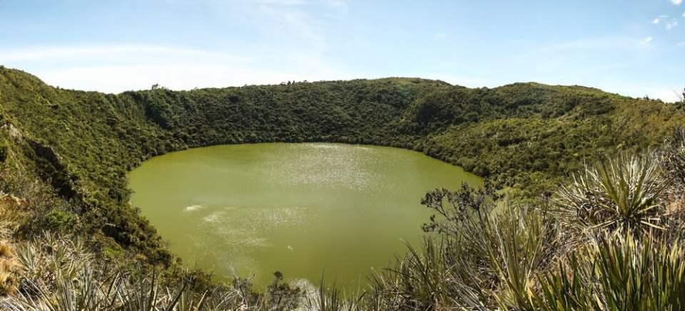 Guatavita lake near Bogota, Colombia