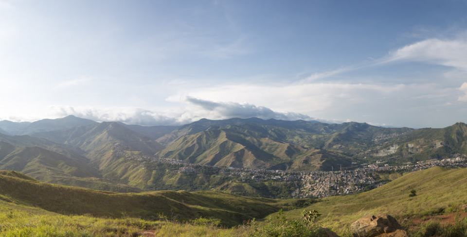 View from The Cristo del Rey in Cali