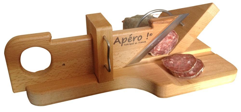 guillotine a saucisson et saucisse seche en bois tom press