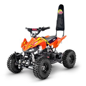 Electric ATV TR240 Orange and yellow TomRide Roll over bar