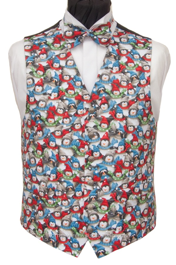 PENGUINS CHRISTMAS WAISTCOAT Christmas Mens Outfitters