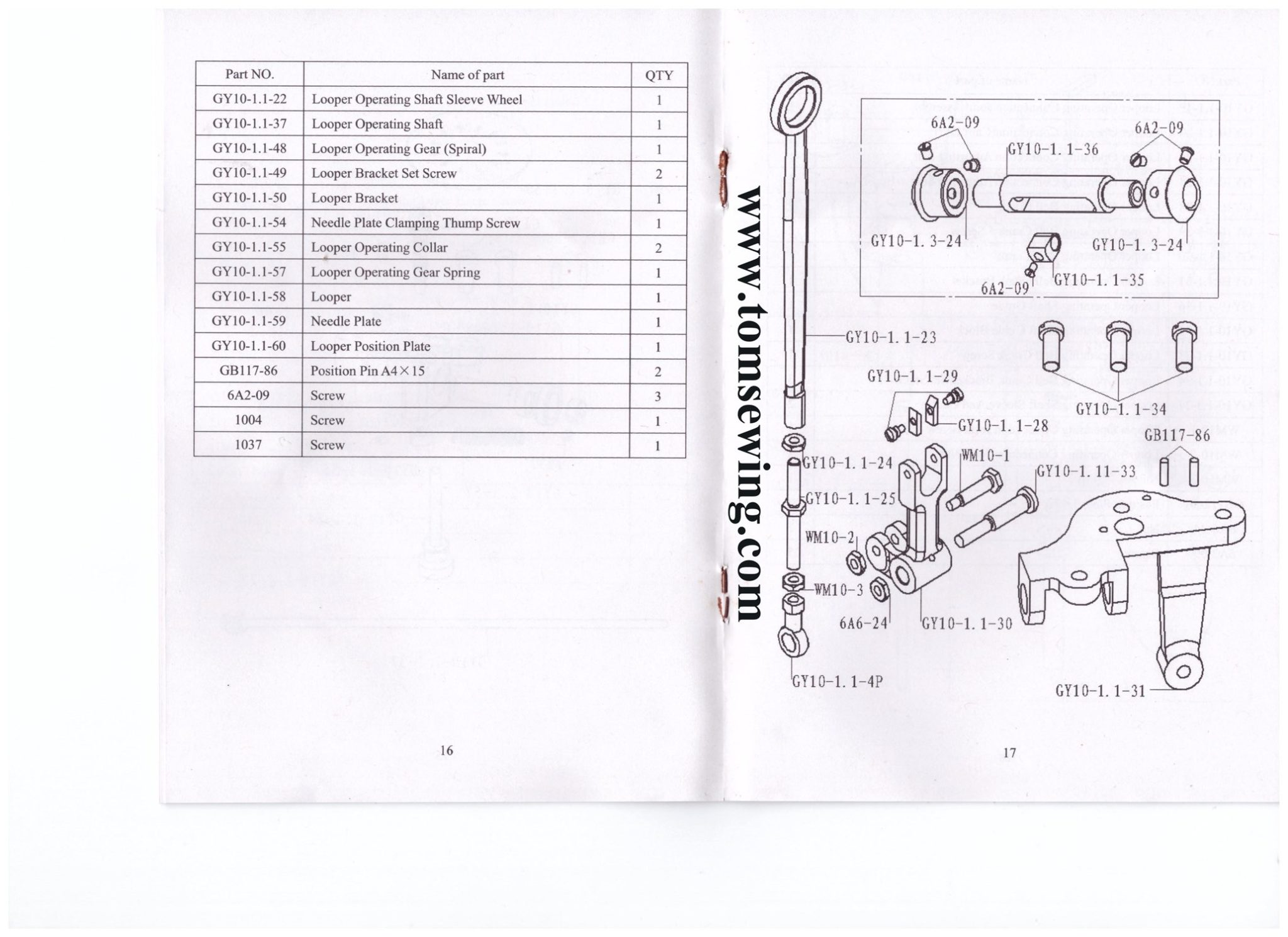 Brother Embroidery Machine Parts Manual