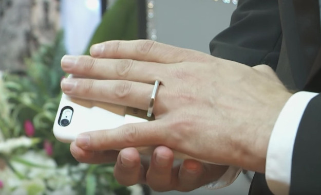 man marries iphone