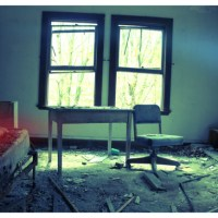 Desk, Chair, And Rotten Bed