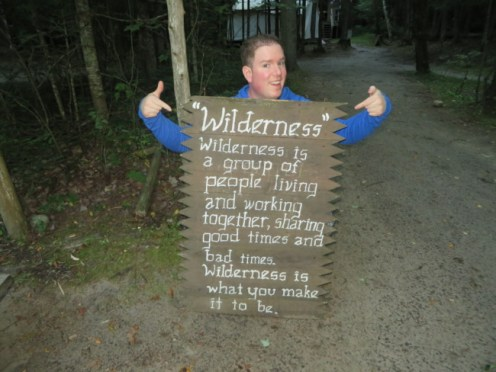 Thomas Slatin - Camp Chateaugay Wilderness Sign