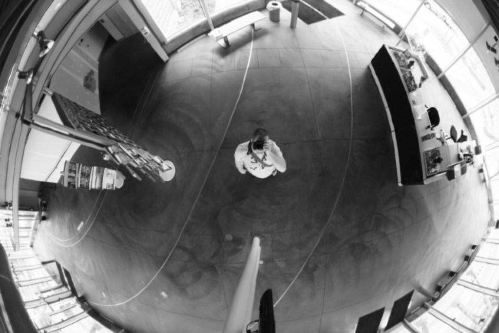 Thomas Slatin - Fisheye Ceiling Mirror
