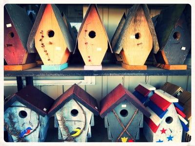 amish birdhouses